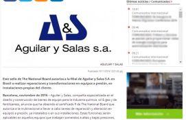 Aguilar y Salas S.A., Europa Press, Novembre 2016 - Agència de comunicació Espanya, Agència de comunicació Portugal, Agència de comunicació Barcelona