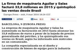 Aguilar y Salas, Yahoo! Finanzas, Marzo 2016 - Agencia de comunicación Barcelona, Agencia de comunicación España.
