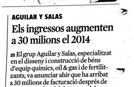 Aguilar y Salas, La Vanguardia, Junio 2015 - Agencia de comunicación Barcelona, Agencia de comunicación España.