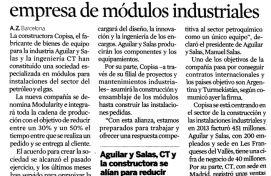 Aguilar y Salas, Expansión, Febrero 2015 - Agencia de comunicación Barcelona, Agencia de comunicación España.