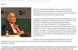 IASP, Tecnonews, Setembro 2016 - Agência de comunicação Espanha, Agência de comunicação Portugal, Agência de comunicação Barcelona