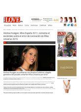 Andrea Huisgen, Love, Diciembre 2015 - Agencia de comunicación Barcelona, Agencia de comunicación España.