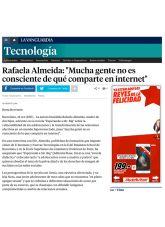 Rafaela Almeida, La Vanguardia, Octubre 2015 - Agencia de comunicación Barcelona, Agencia de comunicación España.
