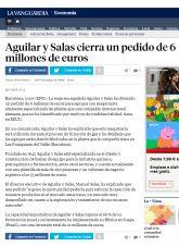 Aguilar y Salas, La Vanguardia, diciembre 2015 - Agencia de comunicación Barcelona, Agencia de comunicación España.