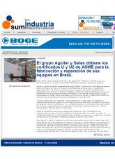 Aguilar y Salas S.A., Sumindustria, Octubre 2016 - Agencia de comunicación España, Agencia de comunicación Portugal, Agencia de comunicación Barcelona
